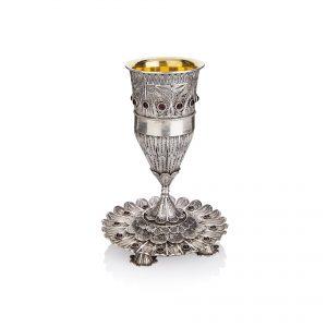 גביע עם צלחת מכסף טהור